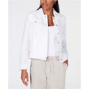 White Linen Jacket by Charter Club